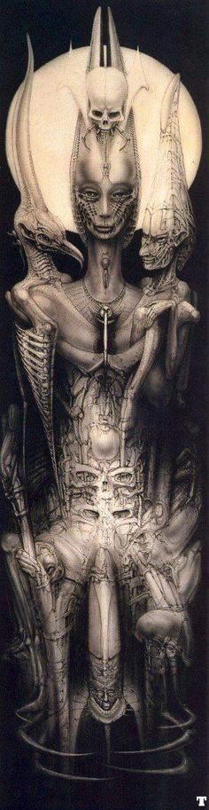 H.R. Giger... he is just too awesome.  It's nearly beyond belief that some people actually walked the earth