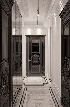 Interior Design,Architecture,Visual Effects Foyer Design, Lobby Design, House Design, Luxury Homes Interior, Home Interior Design, Interior Doors, Classic Interior, Modern Interior, Architecture Design