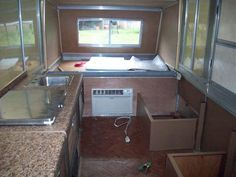 "1976 Apache Ramada ""hardside"" pop-up camper. How to add an A/C unit. Popup Camper, Diy Camper, Camper Ideas, Apache Camper, Scamp Trailer, Camper Renovation, Camper Remodeling, Tub To Shower Remodel, Rv Parts"