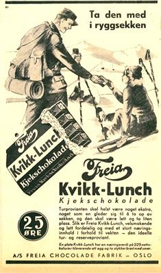 Kvikk Lunsj – The Ultimate Norwegian Hiking Snack Hot Chocolate Sauce, Vikings Time, History Of Chocolate, American Chocolate, Lost In The Woods, Ski Holidays, Retro Recipes, Vintage Advertisements, Ads