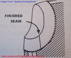 Spadea facing, moving a facing seam to reduce bulk