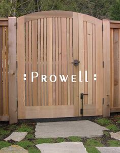 Wood Garden Gates by Prowell Woodworks #113