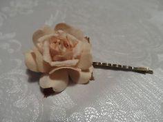 Bridal Bridesmaid Wedding Vintage Rose Flower Hair Clip Pin Kirby Grip Slide | eBay