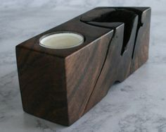 Geometric Wooden Candle Holder