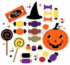 Halloween Trick or Treat Candies. Vector Illustration