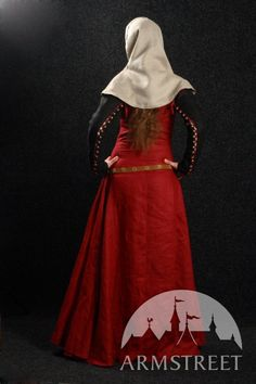 """Medieval Nun Dress with Detachable Sleeves, Gorget and Hood """"Medieval Dream"""". $209.99, via Etsy."""