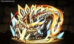 Armored Blade Dragon, Diagoldos stats, skills, evolution, location | Puzzle & Dragons Database