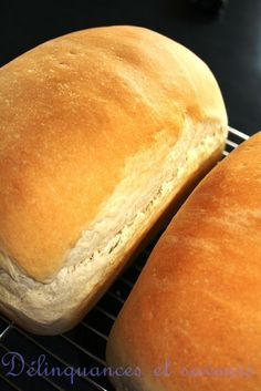 Delicacies and flavors: Julia Childs white bread - pain et brioche - # Cooking Bread, Cooking Chef, Brioche Bread, Roti Bread, Our Daily Bread, White Bread, Creative Food, Bread Recipes, Food To Make