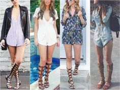 How to Wear Gladiator Sandals Romper