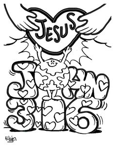 images of john 3:16 for children to color - Google Search