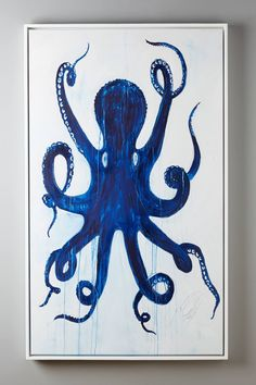 If i leave the bathroom tiles blue for now!? Pulpo Wall Art by Kelly O'Neal