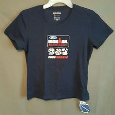 NWT-Womens-Size-Large-Zorrell-Ironman-Triathlon-Finisher-Stretch-Cotton-Shirt