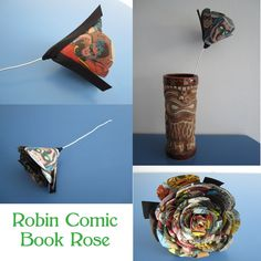 Robin Comic Book Rose