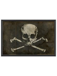 Pirate Flag by Artwork Enclosed on Gilt Home