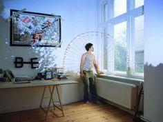 Clément Briend - Projection Art - Idoli e gargoyles proiettati su alberi ed edifici.  more @ http://www.collater.al/arts/clement-briend-projection-art/