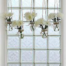 Mason Jar Window Treatment