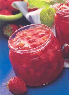 Erdbeer-Pfirsich-Frühstücks-Konfitüre