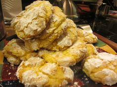 The famous lemon tea cookies.  A big hit...recipe adapted b Allrecipes.com