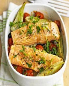 Filet de saumon au fenouil et tomates pour 2 personnes - Recettes Elle à Table