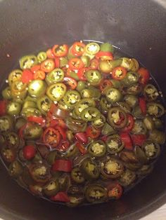 super easy pickled peppers