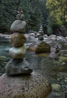 Rock stacking. We would be great at this. very ZeN.