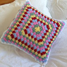 Back of cushion in Cath Kidston colours