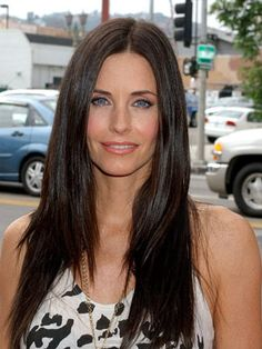 We loved Courteney Cox's pixie cut, but it's no match for her beautiful, shiny, flat strands