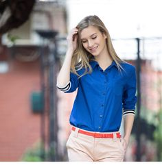 slim female long sleeved shirt 2015 new spring and summer