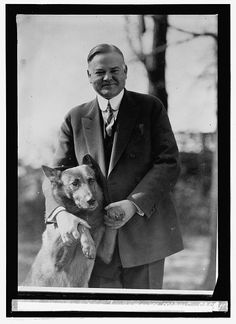 This picture of President Herbert Hoover with his Belgian Shepherd, King Tut, helped him win the hearts of American dog lovers in the 1920s.