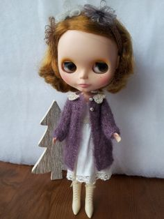 Set for Blythe  coat and dress by Carolinelouisetricot on Etsy