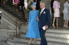 Her Majesty Queen Margarethe of Denmark and  Prince Consort Henrik attend the Te Deum Thanksgiving service in honor of King Carl Gustaf's 40th Jubilee celebrations 9/15/2013