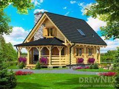 Jaskółka II - Domy drewniane letniskowe - DREWNEX Small Log Cabin, Home Fashion, House Styles, Minecraft, Home Decor, Accessories, Log Houses, Projects, Homemade Home Decor