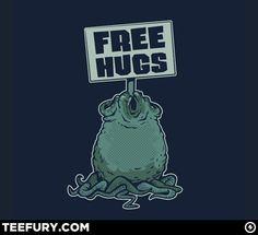 face_hugger_free_hugs_tee