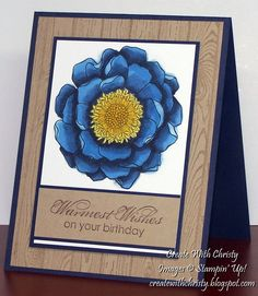 Stampin' Up! Blended Blooms - Create With Christy: Sale-A-Bration & Occasions Catalog Starts Today & Blended Blooms Birthday Card