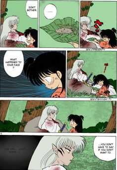 Rin & Sesshoumaru : My favorite moment!! This is the only Inuyasha manga I own. Simply for this moment.