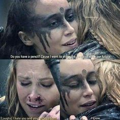 Lexa pick up lines Lexa The 100, The 100 Clexa, The 100 Quotes, This Is Us Quotes, Stupid Pick Up Lines, 100 Jokes, The 100 Characters, Fleet Of Ships, Clarke And Lexa