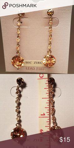 """2"""" Costume Jewelry Earrings Lead Free Cubic Zirconia Dangling Beautiful Studs Jewelry Earrings"""