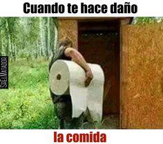 Más si te toca desvelarte sentado en el trono. #Baño #Papel #estomago #enfermo #Comida #SrElMatador #ElSalvador #SV
