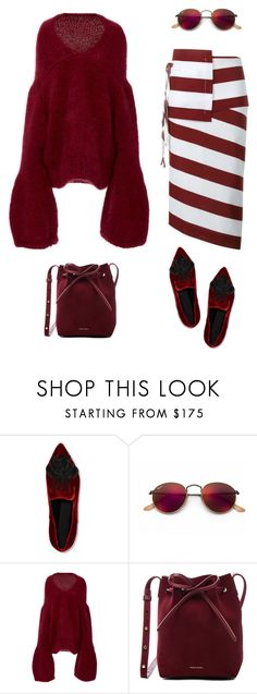 """""""Untitled #293"""" by remedijos ❤ liked on Polyvore featuring Sanayi 313, Ray-Ban, Tuinch, Mansur Gavriel, N°21 and monochrome"""