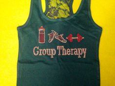 Group therapy half lace tank top. Crossfit tank by MOZtrendFit, $19.95