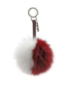 Fendi fur keychain poofy