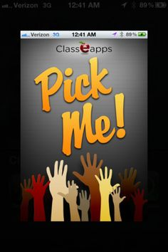 The Pick Me! app is the perfect tool for teachers searching for a way to track formative assessment. Pick Me! will randomly pull a students name for you to call on and after they answer the question .you record whether or not it was correct using the thumbs up or incorrect using thumbs down. The data is saved and ready to export to your email account at the end of class. $1.99