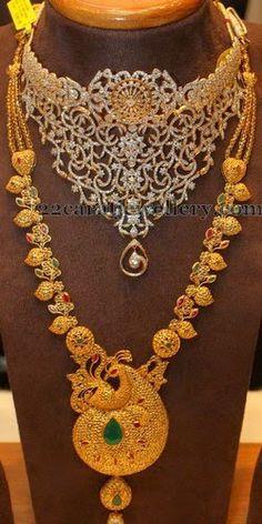 Dancing Peacock Paisley Designed Set | Jewellery Designs