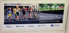 London Olympics 2012 Walking May be Quicker Tube Poster by Annie Mole, via Flickr