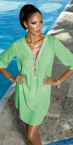 #MaryanMehlhorn 2014 Pistachio #Tunic 3393-231-100 #southbeachswimsuits