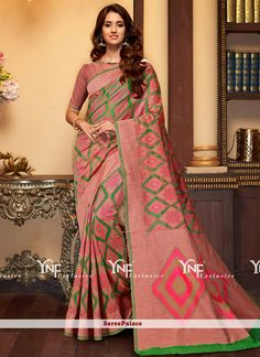 Distinguishable Weaving Work Cotton Silk Traditional  Saree