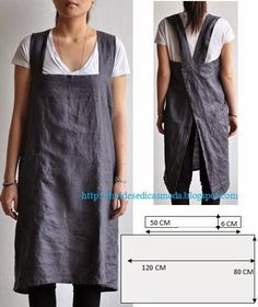 Another great idea from Moldes Moda por Medida. Totally making a version of this as a nice apron!