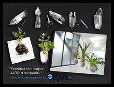 upcycling - fabrique ton propre jardin suspendu en bouteilles plastique recyclées