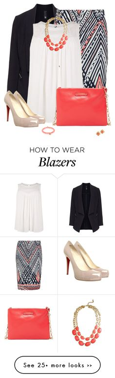 """""""Plus Sized Office Wear"""" by jafashions on Polyvore featuring Manon Baptiste, Anna Scholz, Christian Louboutin, Jack French and Sydney Evan"""