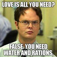 Dwight the constant pragmatic.